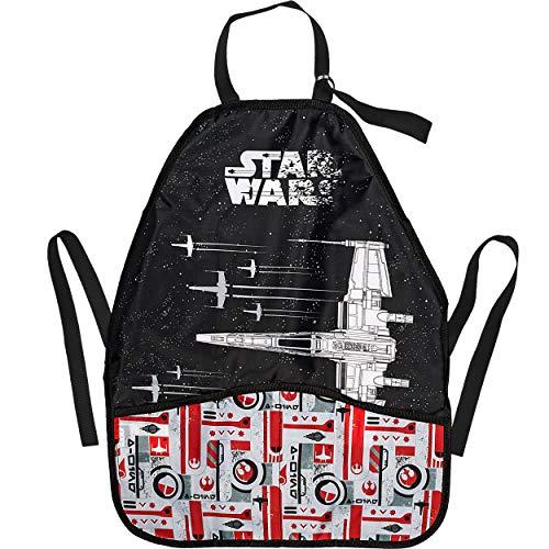 alles-meine.de GmbH Kinderschürze / Schürze - Star Wars - X-Wing Starfighter / Raumschiff - größenverstellbar - mit 2 Taschen - mitwachsend - universal / beschichtet & wasserdich..