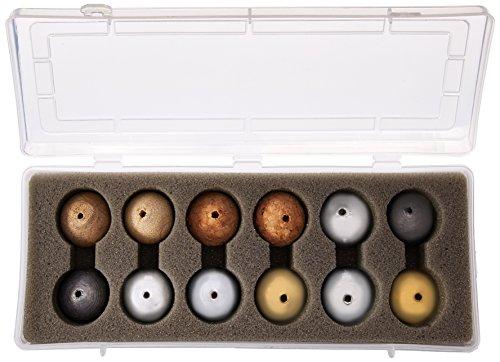 Eisco PH0109CB Drilled Ball Set in Plastic Case