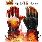 Beheizte Handschuhe für Herren Damen| Beheizbare Handschuhe |Wiederaufladbare Lithium-Ionen-Batterie | 3-Stufen-Temperaturregelung und Touchscreen