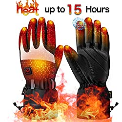 Heated gloves for men ladies | Heatable Gloves | Rechargeable Lithium Ion Battery | 3 stage temperature control and touch screen