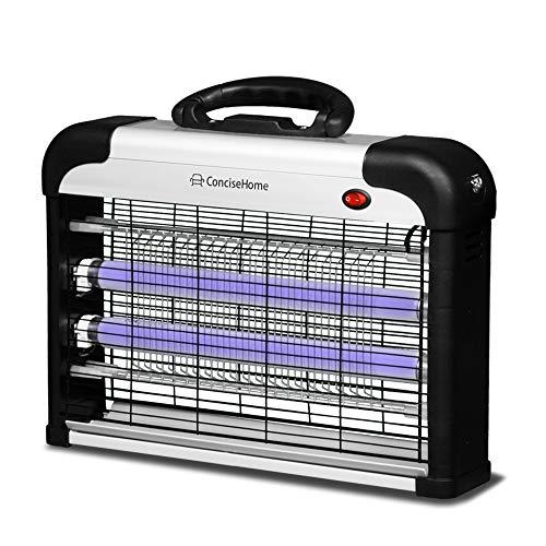 Concise Home Acogedor Zapp Ungeziefer UV-Licht zieht Sich an und spielt ausgezeichnete Rolle, Insektenvernichter, Fliegenklatsche, Wespenvernichter Silber (20 W = 2 x 10 W), schwarz