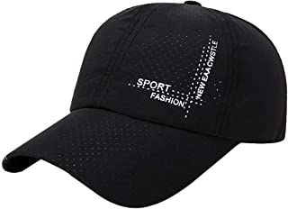 VanvoBaseball Cap Fashion Hats for Men Casquette for Choice Utdoor Golf Sun Hat (Black)