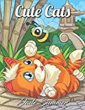 Cute Cats: An Adult Coloring Book with Funny Cats, Adorable Kittens, and Hilarious Scenes for Cat Lovers