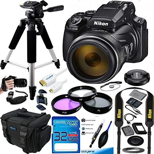 Nikon COOLPIX P1000 16.7 Digital Camera with 3.2' LCD, Black - Advanced Bundle