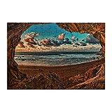 Islas Canarias Cueva Playa Hermosa Natu Jigsaw Puzzle 98 Piezas Madera Juegos Para Adultos Juventud Aprendizaje Puzzle Para Decoración Del Hogar Rompecabezas