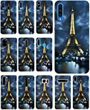 Hülle für iPhone 7 / 8 / SE 2020 Handyhülle Motiv 394 Eifelturm Paris Frankreich bei Nacht Blau Gelb Premium Silikonhülle SchutzHülle Softcase HandyCover Handyhülle für iPhone 7 / 8 / SE 2020 Hülle
