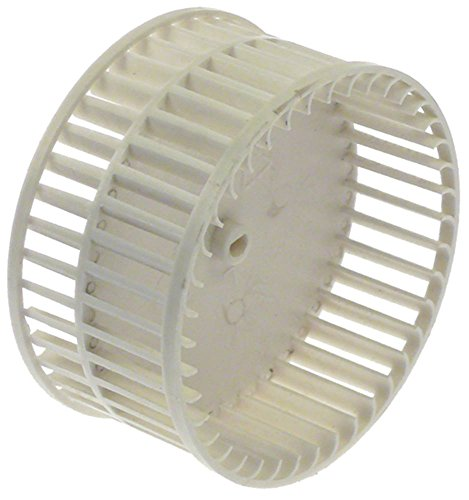 Horeca-Select ventilatorwiel voor radiale ventilatoren ø 96 mm 40 schopels hoogte 49 mm asopname 4x5 mm opname ø 4x5 mm ø 96mm