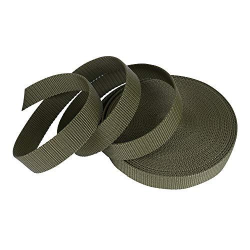 SUNTATOP 10M Nylon Correa Pesada Cinta de Nylon Craft DIY Mochila Accesorios de Flejado(Ejército Verde)