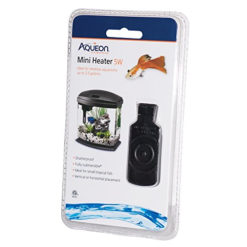 Aqueon Mini Heater for Aquariums, 5 Watt, Under 2.5 Gallons