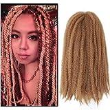 Marley Hair 4 Packs Afro Kinky Curly Crochet Hair 18 Inch Long Marley Twist Braiding Hair Kanekalon Synthetic Marley Braids Hair Extensions for Women(#27)