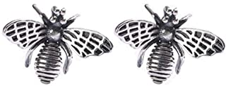 Dtja Cute Bumble Bee Earrings Studs for Women Girls Men S925 Sterling Silver Tiny Lovely Honey Queen Bee Mini Insect Anima...