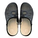 GCDN Hohle Sandalen, Schnell Trocknend Sommer Strand Schuhe Casual Hausschuhe Bequeme Rutschfeste Wasserdicht Reise Schuhe, Schwarz - Schwarz - Größe: 42 EU