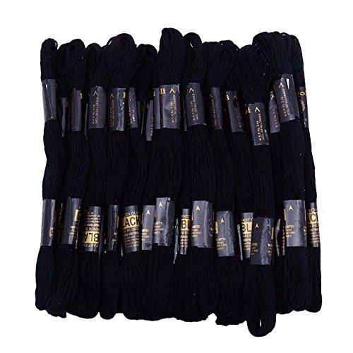 IBA Indianbeautifulart 25 Stück Verp Cotton Sewing Skeins Stich Stickgarn Knitting Floss