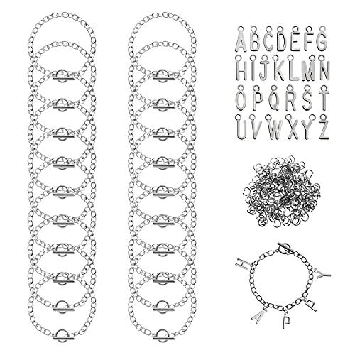 Alfabeto OT Toggle Link Colgantes Pulsera Joyería Fabricación de Cadenas Charms