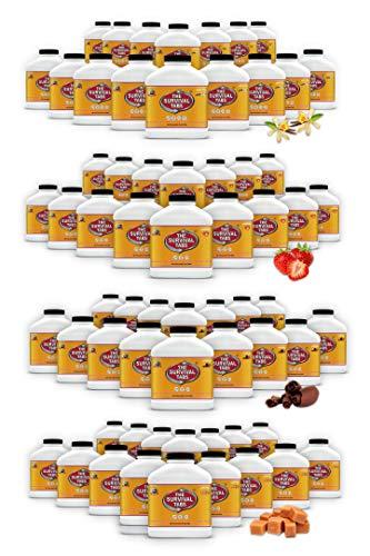 Just in Case no prep 960 Days Emergency Food tabs Supply 25 Year shelflife none GMO gluten-free 4 Flavors 64 bottles