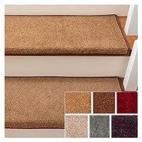 カーペット 階段の踏み板 ノンスキッド 屋内 トレッド にとって 木材 階段 自己接着 階段 ラグ 保護 パッド (Color : A, Size : 20pcs24x80cm)