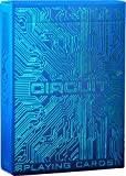 Circuit Ice Blue Playing Cards with Free Card Game eBook, Creative Deck of Cards, Premium Card Deck, Cool Poker Cards, Unique Bright Colors for Kids & Adults, Computer Themed, Black Playing Cards