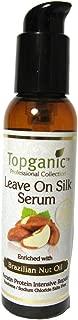 Topganic Leave On Silk Serum Pump with Brazil Nut Oil, 4 Ounce