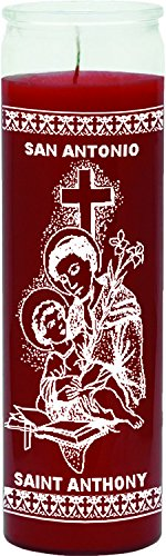 Indio 7 Day Glass Candle St Anthony Red