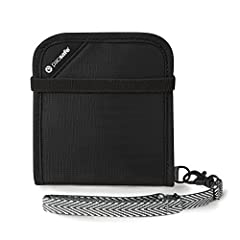 High-security, RFID-blocking bi-fold wallet ideal for traveling and keeping all essentials organized RFIDsafe blocking material built into wallet helps protect IDs and credit cards from hacker scanning Detachable, strong Dyneema webbing strap helps p...