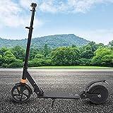 Scooter Eléctrico, Scooter Motorizado Plegable de Aleación Aluminio 8 Pulgadas 180W 18 km/h Velocidad Máxima Carga 100kg Patinetes con Freno Neumáticos Traseros 2 Ruedas para Adolescentes Adultos(UE)