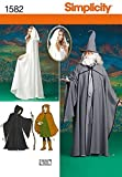 Simplicity 1582 Teen's, Men's, and Women's Hooded Cape Costume Sewing Patterns, Sizes XS-XL
