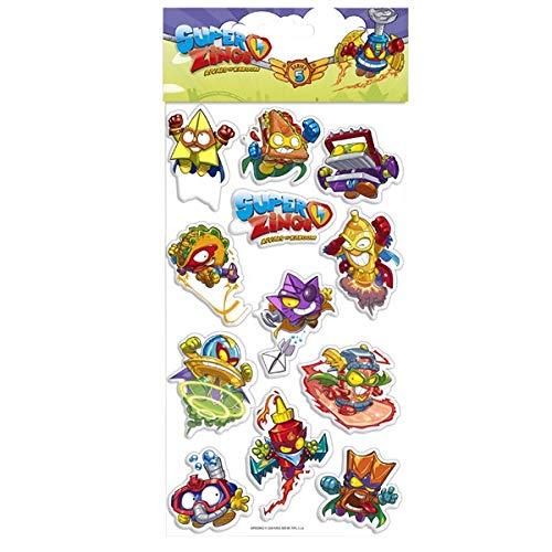 Teamsterz-Stickers Relieve SUPERZINGS Pegatinas, Color (Multicolor) ST-12-SZ