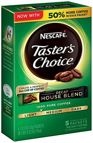 Nescafe Taster's Choice Decaf Instant Coffee, House Blend