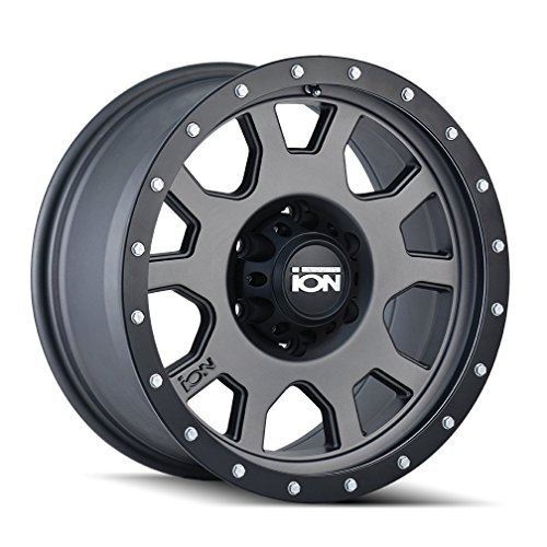 ION (135) GRAY Wheel with MATTE GUNMETAL WITH BLACK BEADLOCK (0 x 9. inches /8 x 165 mm, 0 mm offset)