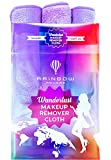 RAINBOW ROVERS Makeup Removing Cloth - Makeup Towel | Suitable for Sensitive Skin | Removes Makeup with just Water like an Eraser | Makeup Remover Cloths Reusable Microfiber | Wild Lavender - Set of 3