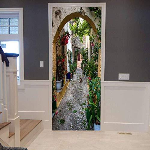 Vicolo 3D-fotobehang, zelfklevend, zelfklevend, om zelf te maken, decoratie 77 cm x 200 cm
