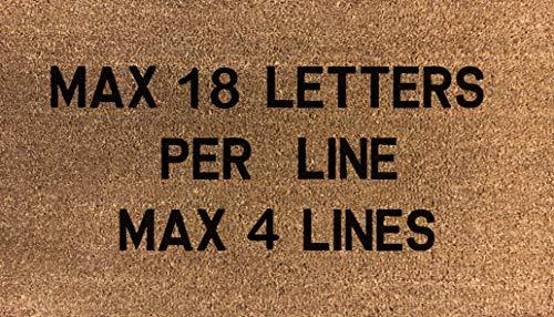 Felpudo personalizado con plantilla de fibra de coco 80 x 50 cm (añade tu propio texto)