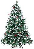 WEWILL Árbol de Navidad Artificial 180CM Árbol de Navidad Nevado con Conos de Pino...