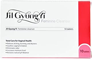 JilGyungYi Natural Vaginal Suppositories 10EA - Feminine Intimate Health Total Solution - Moisturizing, Tightening, Odor Treatment, Brightening, Dryness & Itching Relief
