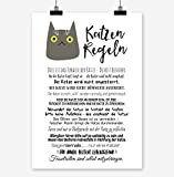 Prints Eisenherz Katzen Regeln Kunstdruck Poster (A4)