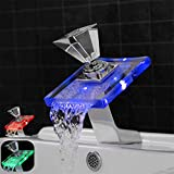 Küche Wasserhahn Mischbatterie Becken Wasserhähne führte Wasserfall heißes und kaltes Wasser auf...