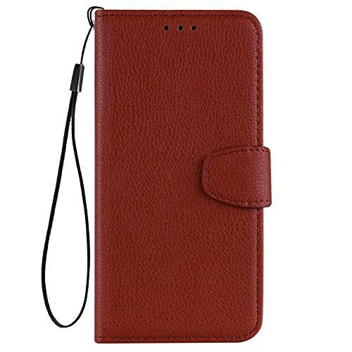 vingarshern Hülle für Elephone S3 Schutzhülle Tasche Klappbares Magnetverschluss Flip Hülle Lederhülle Handytasche Elephone S3 Hülle Leder Etui Brieftasche(Braun) MEHRWEG