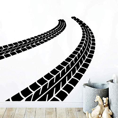 Huellas de neumáticos pegatinas de pared pegatinas arte de la pared papel tapiz para sala de estar empresa escuela oficina decoración mural de pared 57Cmx71Cm