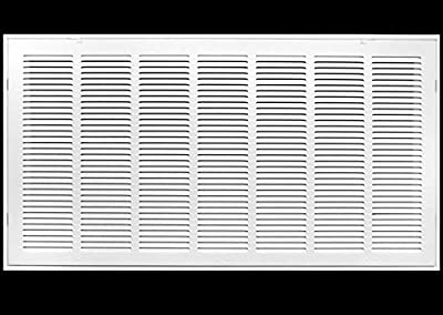 """36"""" X 24 Steel Return Air Filter Grille for 1"""" Filter - Removable Face/Door - HVAC Duct Cover - Flat Stamped Face - White [Outer Dimensions: 38.5 X 25.75]"""