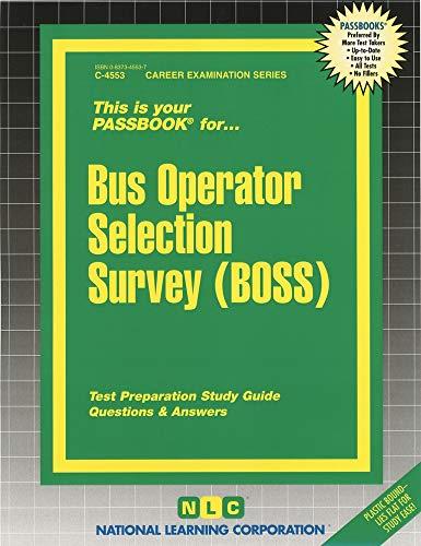 Bus Operator Selection Survey Boss Passbooks