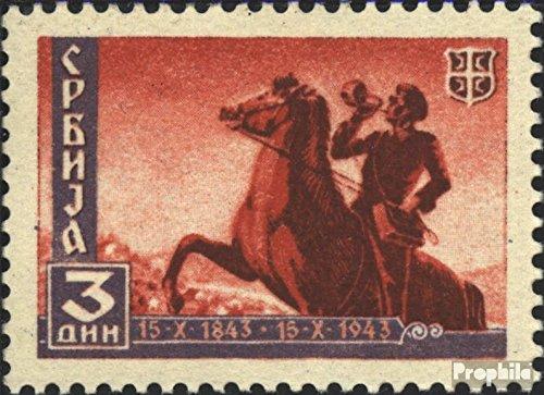 Prophila Collection Serbia (alemán.ocupación.2.Guerra Mundial.) 94 1943 Serbia Correos (Sellos para los coleccionistas) Caballos