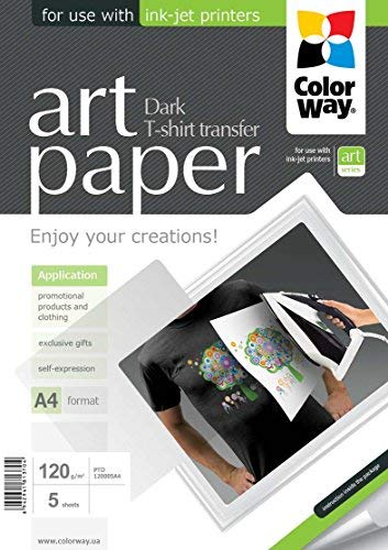 Colorway ptd120005a4Photo Paper T-shirt Transfer, Scuro