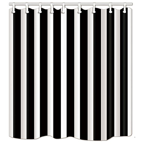 NYMB Badvorhang mit klassischem Streifen-Motiv, 180 x 178 cm, schimmelresistent, Polyester, Duschvorhänge, Fantastische Dekorationen