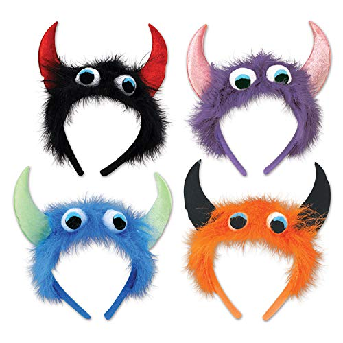 Beistle 535 Halloween Fur Monster Headband, One Size, Multicolored