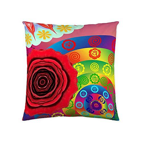 NATURALS Indhira Funda de cojín, Multicolor, Sin Relleno