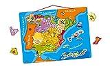Janod - Puzzle magnético Mapa de España en madera, 50 piezas magnéticas, 40 x 30 cm, Juego educativo a partir de 5 años, J05527