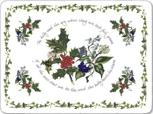 Pimpernel Holly & The Ivy Placemats - Set of 4 (Large) by