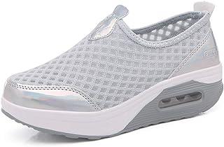 fcb59ed00c8a8 Femmes Minceur Taille 35-42eu Chaussures Marche Baskets Plate-Forme  Chaussures Poids Air Léger