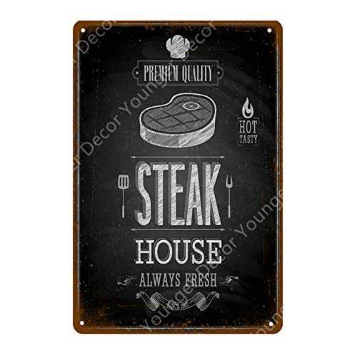 yycsqy Metal Signs Vintage Plaque Poster Iron Painting Retro Dad'S Bbq Party Drinks Pub Hotel Steak House Decor Barbecue Grill Plaque