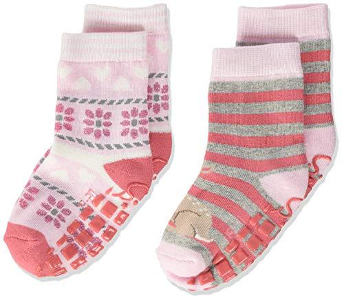Sterntaler Baby-Mädchen Abs-söckchen Dp Bambi Socks, Rosa, 21/22 ,2er Pack